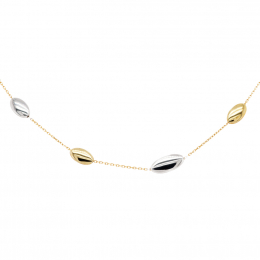 Citigems 916 White Gold and Yellow Gold Oval Bracelet (*MIP)
