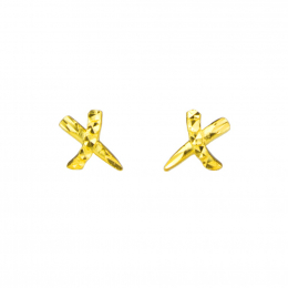 Citigems 999 Pure Gold Criss Cross Earrings